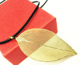 New Fashion Mother Gift Gold Leaf Necklace