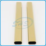 Stainless Steel Flat Sided Oval Pipes (Tubes) Plated with Titanium for Cars