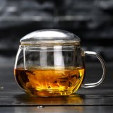 Hand Made Glass Tea Cup with Infsuer Drinking Glass Cup Borosilicate Glass Tea Cup