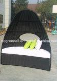 Outdoor Garden Rattan Patio High Back Wicker Bed