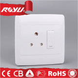 Double 15A Switched Socket, Electrical Wall Switch with Socket
