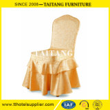 Cheap Wholesale Restaurant Elegant Ruffled Stretch Polyester Jacquard Chair Covers