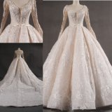 Long Sleeve Beaded Ballgown Wedding Dress Bridal Gown Made in China Wgf1712-31