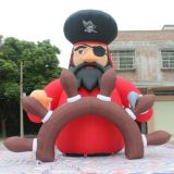 Inflatable Pirate and Us Uncle Sam Cartoon Character for Advertising