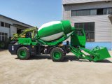 Low Price Self-Loading Hinged Type Concrete Mixer Truck with Rexroth Brand Motor