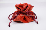 Soft Plush Satin Six Grids Jewellery Packing Pouch