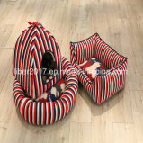 Classical Red Stripes Cat House furniture Pet Cage Bed