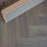 Solid Timber Surface Grey Color Russian Oak Herringbone Style Engineered Wood Flooring