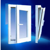 Double Insulating Low-E Glass Filled Argon Gas PVC Window