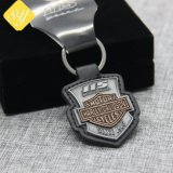 Wholesale Custom Metal PU Leather Keychain for Sale (KC-243)