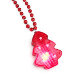 Flashing LED Light Christmas Tree Necklace