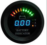 Round LED Digital Battery Gauge Discharge Indicator Hour Meter State