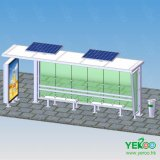 Factory Customized Advertising Solar Bus Shelter Stop with Light Box