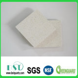 White Solid Surface Polished Quartz Stone with Big Chips
