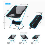 High Strength Aviation Aluminum Alloy Ultralight Sky Blue Beach Folding Chair
