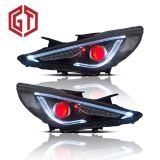 for Hyundai Sonata 2011/2012/2013/2014 Car Headlights Assembly W/ LED Demon Eyes DRL Turn Signal Lights Plug & Play