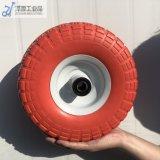 350-4 PU Foam Trolley Wheel Color Big Pattern Flat Free PU Foam Wheel