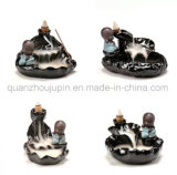 OEM Porcelain Ceramic Decorative Craft Backflow Monk Incense Burner
