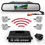 4.3 Inch Car Mirror Monitor Wireless Video Parking Radar 4 Sensors with Ce Certification