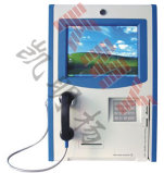 Wall Mounted Touch Screen Phone Booth Kiosk