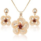 Wholesale 18K Gold Plated Mesh Costume Jewelry Set