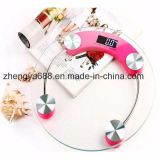 33cm Backlight Large Round Glass Body Weight Health Body Scale for Gift Customized Logo