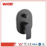 Black Brass Shower Head Modern Bathroom Pressure Balance Valve Faucet with Watermark Certificate