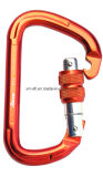 D-Shaped Screwlock Outdoor Gear Rock Climbing Safety Carabiner (C13)