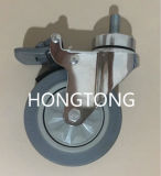 4-Inch Brake Universal Wheel for Stretcher / Trolley Caster / for Equipment for Walking Aids / for Various Instrument Equipment