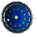 110mm-180mm Double Row Diamond Cup Grinding Wheel / Diamond Grinding Tool