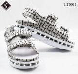 Wholesale Rechargeable Womentartan Sandal Shoes Adult