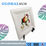 Printable Ceramic Sublimation Plate Blank with Plastic Stand