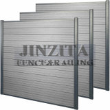 Aluminum Post Fence Wood Plastic Composite WPC Fence Co-Extrusion Privacy Screen WPC Fence