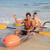 2 Person Factory Wholesale Transparent Kayak with Paddle