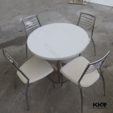 Modern Round Solid Surface Dining Table with 4 Chairs (T170930)