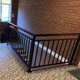 Wholesale Black Powder Coated Stainless Steel Railing Stair Handrail