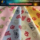 Baseball Bear Printing on Polyester Pongee Woven Textile Fabric