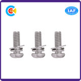 Stainless Steel M6 Cross/Phillips Pan Head Combination Screws with Washer/Spring