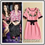 European High Quality Design Ladies Fashion Embroider Party Dress