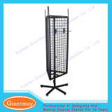 3 Sides Metal Free Standing Wire Mesh Hanging Display Racks