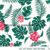 Leaves & Flowers Printed Fabric 80%Nylon 20 %Elastane Fabric for Swimwear