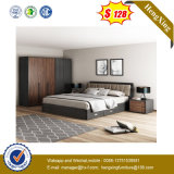 2019 Modern Walnut Bed Home Hotel Melamine Small King Size Bedroom Furniture (UL-9BE116.2)