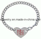 Surgical Steel Jewelry Midical Alert Sweet Heart Bracelet