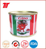 Gino Tomato Paste 70gx50tin Hard Open and Easy Open