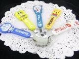 Colorful Plastic Handle Kid Spoon/Tableware/Dinnerware
