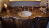 Spanish Dark Emperador Vanity Top with Wash Basin