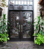 Safety Wrought Iron Door with Beautiful Scroll Work