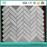 Hexagon/Basketweave/Herringbone/French Pattern Floor/Wall White Marble Mosaics for Bathroom Flooring Tiles