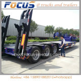Hot Selling Three Axles 50tons Low Bed Semi Trailer