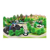 2018 Most Popular Large Children Panda Theme Outdoor Playground Park